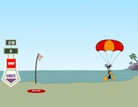 Parachute-jumping-game-with-daffy-duck